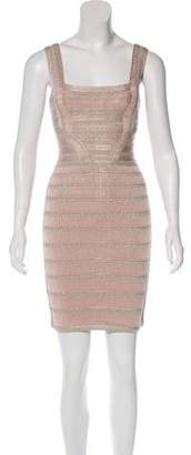Herve Leger Alyia Metallic Dress