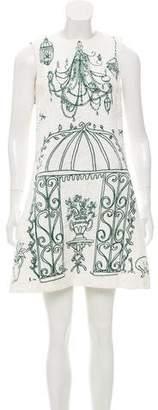 Dolce & Gabbana Garden Print Brocade Dress