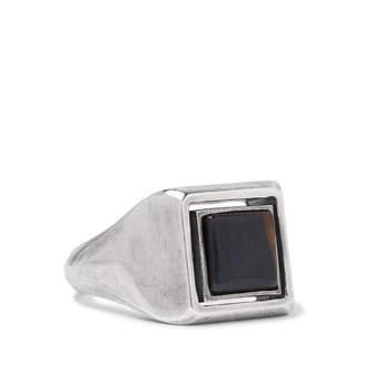 Spinning Sterling Silver Tiger's Eye Ring