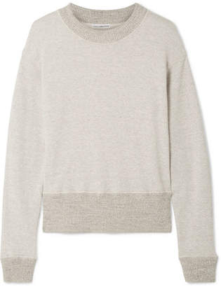 James Perse Cotton-blend Terry Sweatshirt - Mushroom