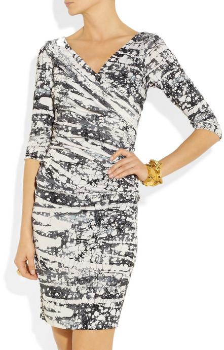 Diane von Furstenberg Bentley ruched silk-jersey dress