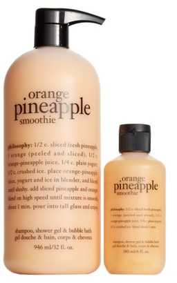 Philosophy Orange Pineapple Smoothie Shampoo, Shower Gel & Bubble Bath Duo $28 thestylecure.com