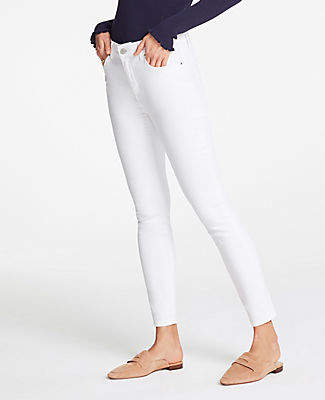 Ann Taylor Petite Skinny Jeans In White