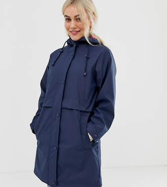 Asos DESIGN Petite raincoat with brushed check lining