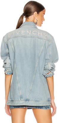Givenchy Oversized Trucker Jacket in Light Blue   FWRD