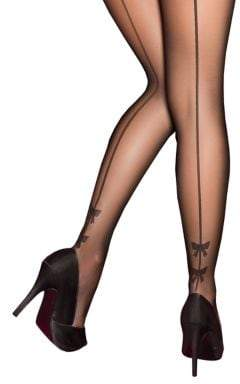 Pretty Polly Plus Bow Backseam Tights