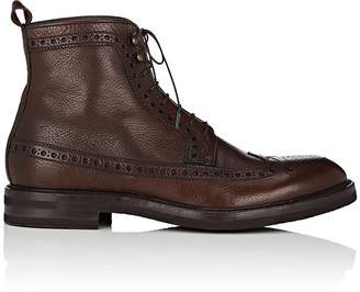 Antonio Maurizi MEN'S LEATHER WINGTIP BOOTS