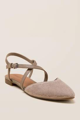 Indigo Rd Genetica Perforated Strappy Flat - Gray