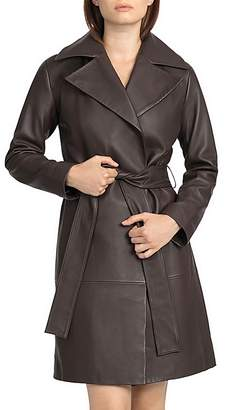 BAGATELLE.CITY Leather Trench Coat