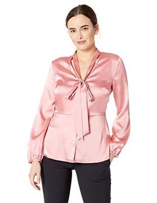 Ellen Tracy Women's Tie Front Blouse