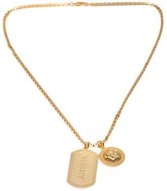 Versace Medusa logo tangle necklace