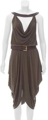 Michael Kors Belted A-Line Dress