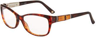 Gucci Cat-Eye Acetate Eyeglasses, Brown