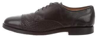 Allen Edmonds Leather Woven-Trimmed Oxfords