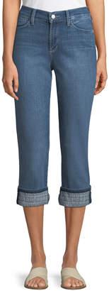 NYDJ Dayla Embroidered-Cuff Boyfriend Jeans