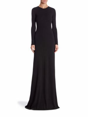 Ralph Lauren Collection Long Sleeve Cashmere Gown