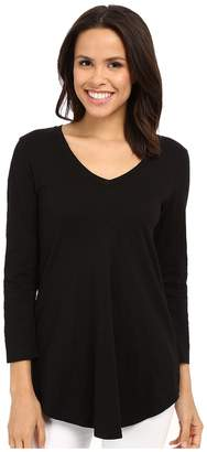 Mod-o-doc Slub Jersey 3/4 Sleeve V-Neck Tunic Women's Blouse