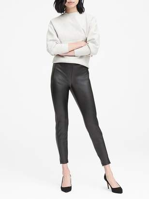 Banana Republic Devon Legging-Fit Vegan Leather Ankle Pant