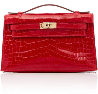 Heritage Auctions Special Collections Hermès Braise Shiny Nilo Croc Kelly Pouchette