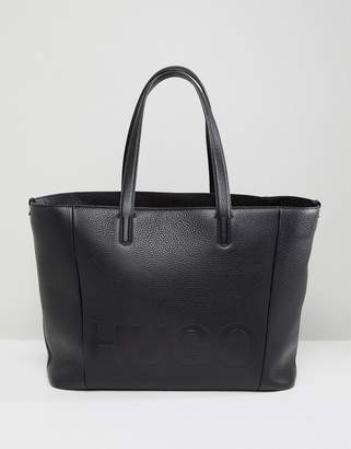 HUGO Logo Leather Shopper Bag