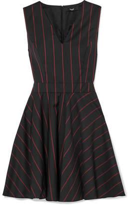Versace Striped Wool Mini Dress - Black