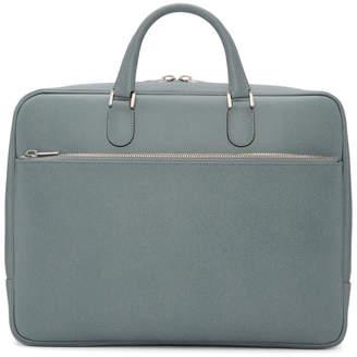 Valextra Blue Academia Briefcase