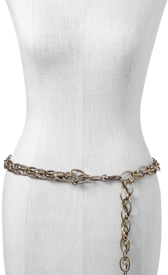 Another Line Mixed Metal Chain Belt