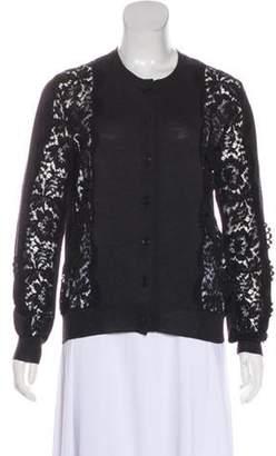 Lanvin Wool Lace Cardigan Grey Wool Lace Cardigan