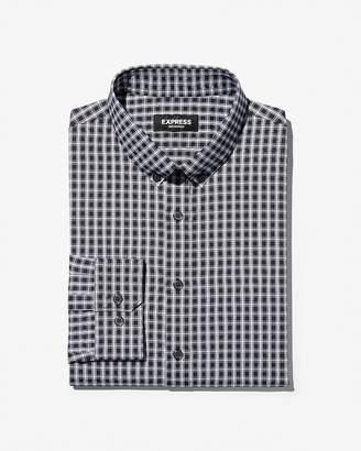Express Extra Slim Check Wrinkle-Resistant Performance Dress Shirt