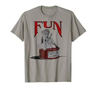 Cool Vintage Pinup Girl T-Shirt-Have Fun Pin Up Art Shirt