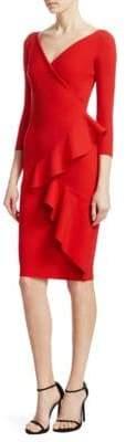 Chiara Boni Ceren Ruffled Sheath Dress
