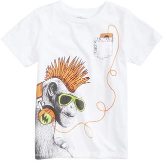Epic Threads Epic Thread Monkey Music Graphic-Print T-Shirt, Little Boys, Created for Macy's