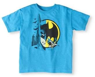 Batman Boy's Split Character T-Shirt