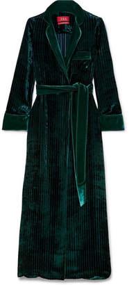 Roda F.R.S For Restless Sleepers Belted Velvet Robe - Forest green