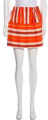 Louis Vuitton Printed Mini Skirt