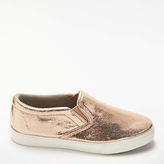 John Lewis Children's Penny Slip On Shoes, Rose Gold