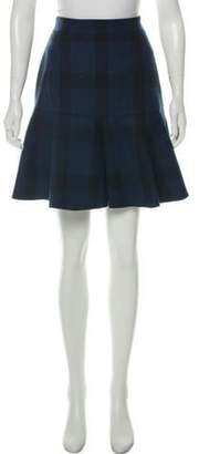 No. 21 Wool-Blend Plaid Mini Skirt Navy No. 21 Wool-Blend Plaid Mini Skirt