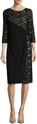 R & M Richards 3/4 sleeve Sheath Dress $80 thestylecure.com