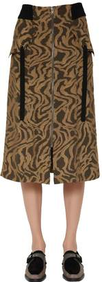 Damir Doma Techno & Silk Fil Coupé Skirt