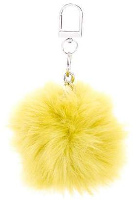 Tory Burch Faux Fur Keychain