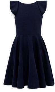 David Charles Girl's Cap-Sleeve Fit& Flare Dress