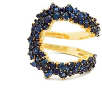 A.N.A khouri Khouri - Mirian 18kt Gold And Sapphire Ring - Womens - Blue