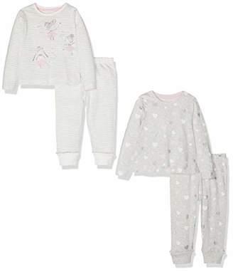 Mothercare Girl's Ballerina Pyjamas - 2 Pack Sets, (Grey 13), (Size:98CM)