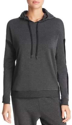 Beyond Yoga Shine On Velvet-Stripe Hooded Sweatshirt