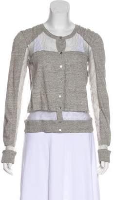 Chloé Lace-Trimmed Knit Cardigan