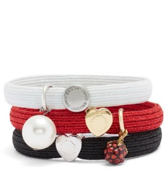 Marc By Marc Jacobs Set Of 3 Charm Ponytail Holders $35 thestylecure.com