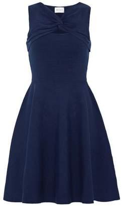 Milly Twist-Front Cutout Stretch-Knit Mini Dress