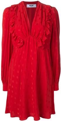 MSGM ruffled polka dot dress