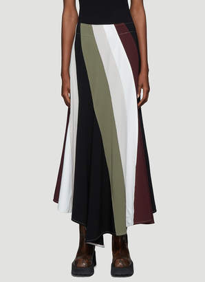 J.W.Anderson Contrast Panel Flared Skirt in Purple