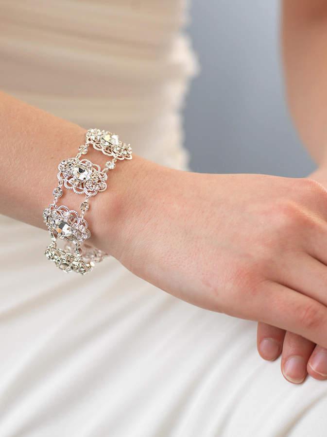 Etsy Vintage Wedding Bracelet, Rhinestone Bracelet, Bridal Accessory, Wedding Bracelet, Bride Bracelet, A